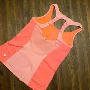 Lululemon coral workout top size 6